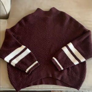 Express burgundy sweater